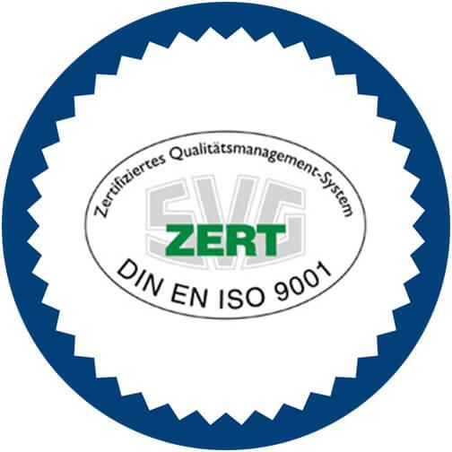 Zertifiziertes Qualitätsmanagement-System DIN EN ISO 9001