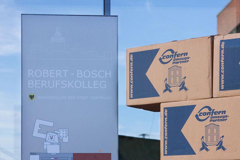 Umzug Robert-Bosch-Berufskolleg der Stadt Dortmund